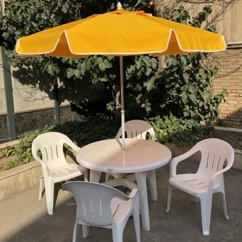 ست میز و صندلی پلاستیکی، ست میز و صندلی، میز و صندلی پلاستیکی، میز پلاستیکی، صندلی پلاستیکی، چتر و سایبان