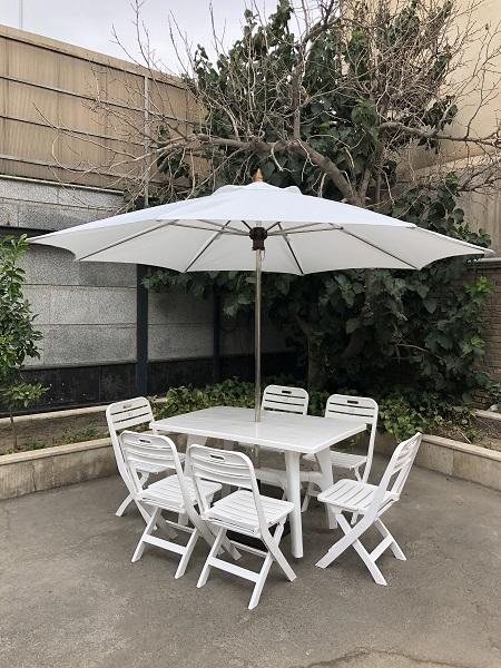 ست میز و صندلی پلاستیکی، ست میز و صندلی پلاستیکی با سایبان، میز و صندلی پلاستیکی 6 نفره